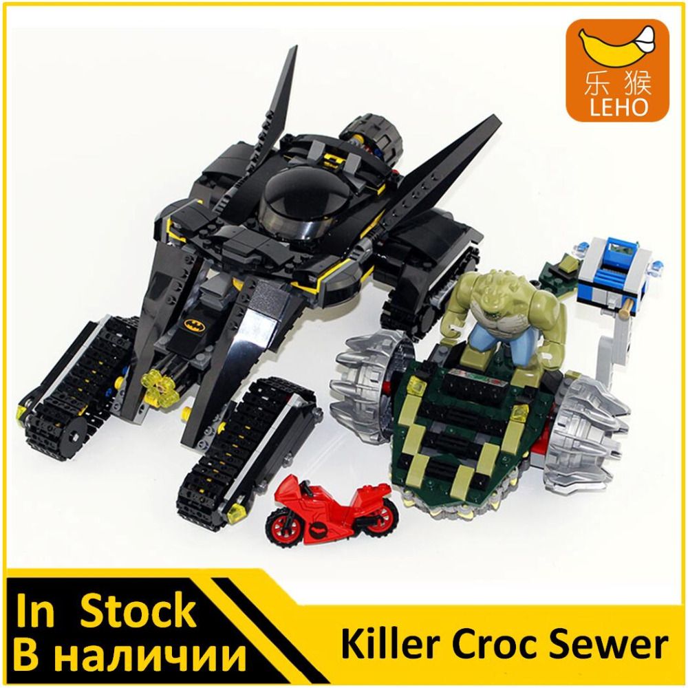 Building Blocks Model 07037 Compatible with Super Heroes Batman Killer Croc Sewer Smash 76055 Model Toys For Children 788pcs super heroes batman movie killer croc sewer smash bat tank 07037 model building blocks toys bricks compatible with lego