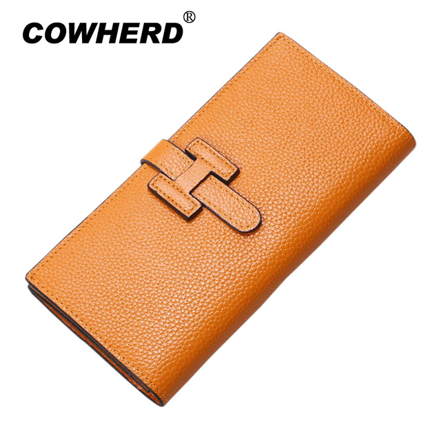 New Arrival Brand Women Wallets 100% Genuine leather Clutch Ladies Fashion Soft Cow Leather Purse Money Bag With Card Holders