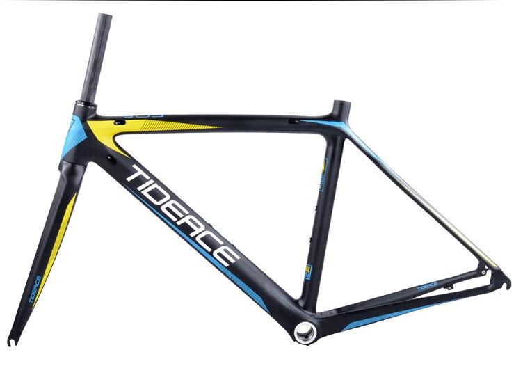 HTB1BjMEX7j85uJjSZFOq6zb8XXaC - 2017-2018 Tideace aero Cadre Route Frameset Made in China Carbon Fiber Road Bike Frame Bicycle Frame 50/53/55cm