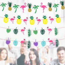 3m Room Hanging Garland Decoration Flamingo Bunting Selva Element Banner For Indoor Pineapple DIY