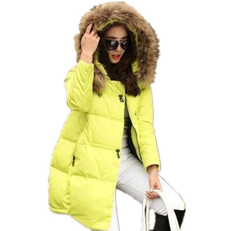 New Coats & Jackets Hooded Winter Jacket Women Fur Collar Winter Coat Women Zipper Parkas Female Winter Outwear Plus Size S-5XL
