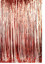 1*2M Rose Gold Metallic Foil Tinsel Fringe Curtain Door Rain Home Room Wedding Party Deco Stage Backdrop Background Photo Props(China)