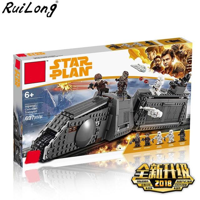 Nueva serie Star Wars Imperial Conveyex transporte Compatible Legoing Starwars 75217 bloques de construcción ladrillos niños regalos de navidad