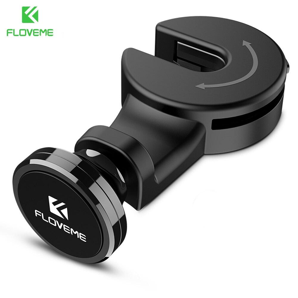 FLOVEME Handyhalter für das Auto Haken Kopfstütze Montieren 360 Drehen Magnetischer Auto telefon Tablet-Halter für iPhone SE 5 5 S 6 7 iPad