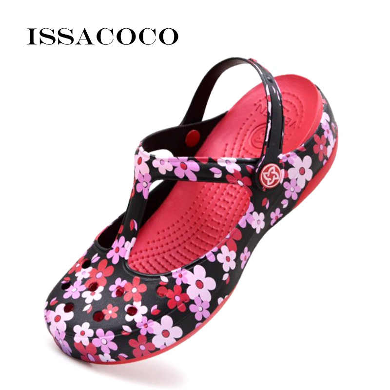 ISSACOCO сандалии для женщин; Летние женские сандалии; Сандалии на плоской подошве; Вьетнамки с подошвой из цельного дерева; Обувь, сандалии для женщин; Женские пляжные сандалии; Женская обувь