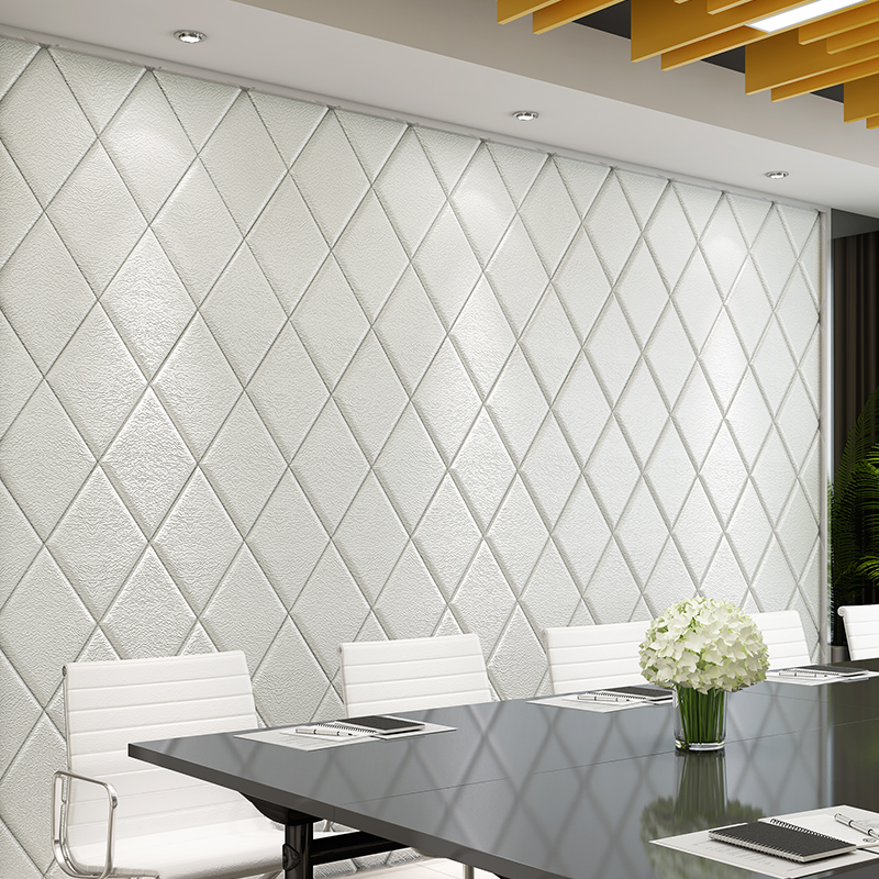 70cmx70cm 3d Soft POE Foam Diamond Wall Stickers Environment Friendly Easy Peel And Stick Self-Adhesive Wall Stickers настенна плитка opoczno effecta beige 29 7x60