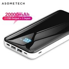 20000 мАч портативное зарядное устройство для зарядки Xiaomi Mi 9 тонкий повербанк внешний аккумулятор зарядное устройство для iPhone X huawei