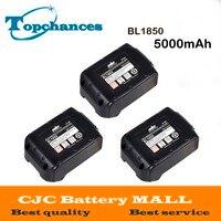 3X High Quality High Capacity 5000mAh 18V Li Ion Replacement Battery For Makita BL1850 BL1830 BL1845