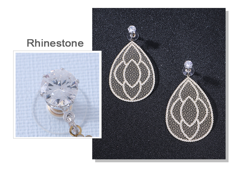 HTB1BjN.aLfsK1RjSszgq6yXzpXaS - Badu Big Filigree Statement Earring for Women Rhinestone Dangle Drop Earrings Vintage Fashion Jewelry