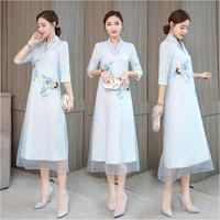 Asia & Pacific Islands Clothing Elegant vietnam womens dress Ao Dai robe traditional costume Improved long modern Cheongsam