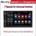 7 ''Android 5.1.1 Quad Core Автомобильный магнитофон dvd-плеер для 2 DIN universal автомобильный радиоприемник стерео с BT радио WI-FI dvd GPS