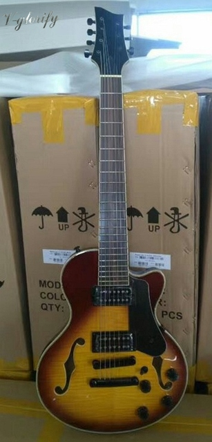 professional 7 string jazz electric guitar factory made