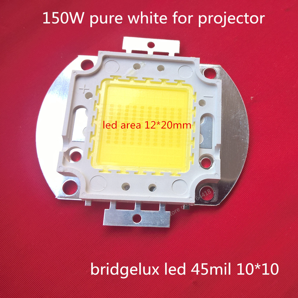 free shipping 1pcs bridgelux projector COB LED integrate lamp 150W for DIY/replace projector/projection integrated 45MIL beads