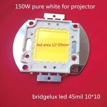 Livraison gratuite 1 pcs bridgelux projecteur COB LED intégrer lampe 150 W pour le BRICOLAGE/remplacer projecteur/projection intégré 45MIL perles