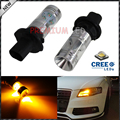 (2) Amber Error Free PH24WY SPH24 12272 LED Bulbs For Audi Cadillac GMC,etc For Front Turn Signal Lights
