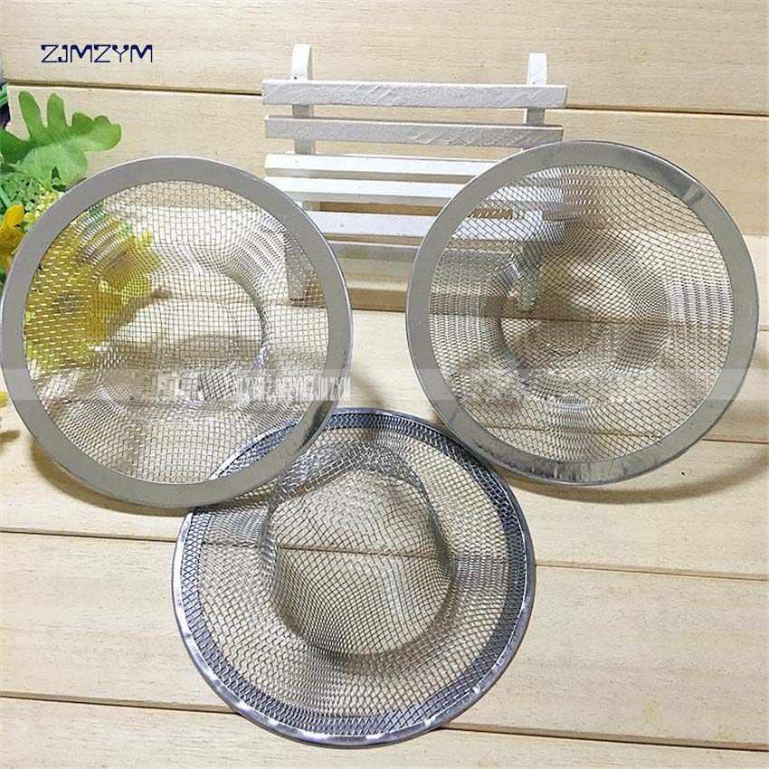 1 pc Filtro de drenagem em aço inoxidável acessórios para filtros de água da bacia de lavagem ralo da pia da cozinha vazamento net pia malha 5.3 cm /7.2 cm/9 cm/11 cm