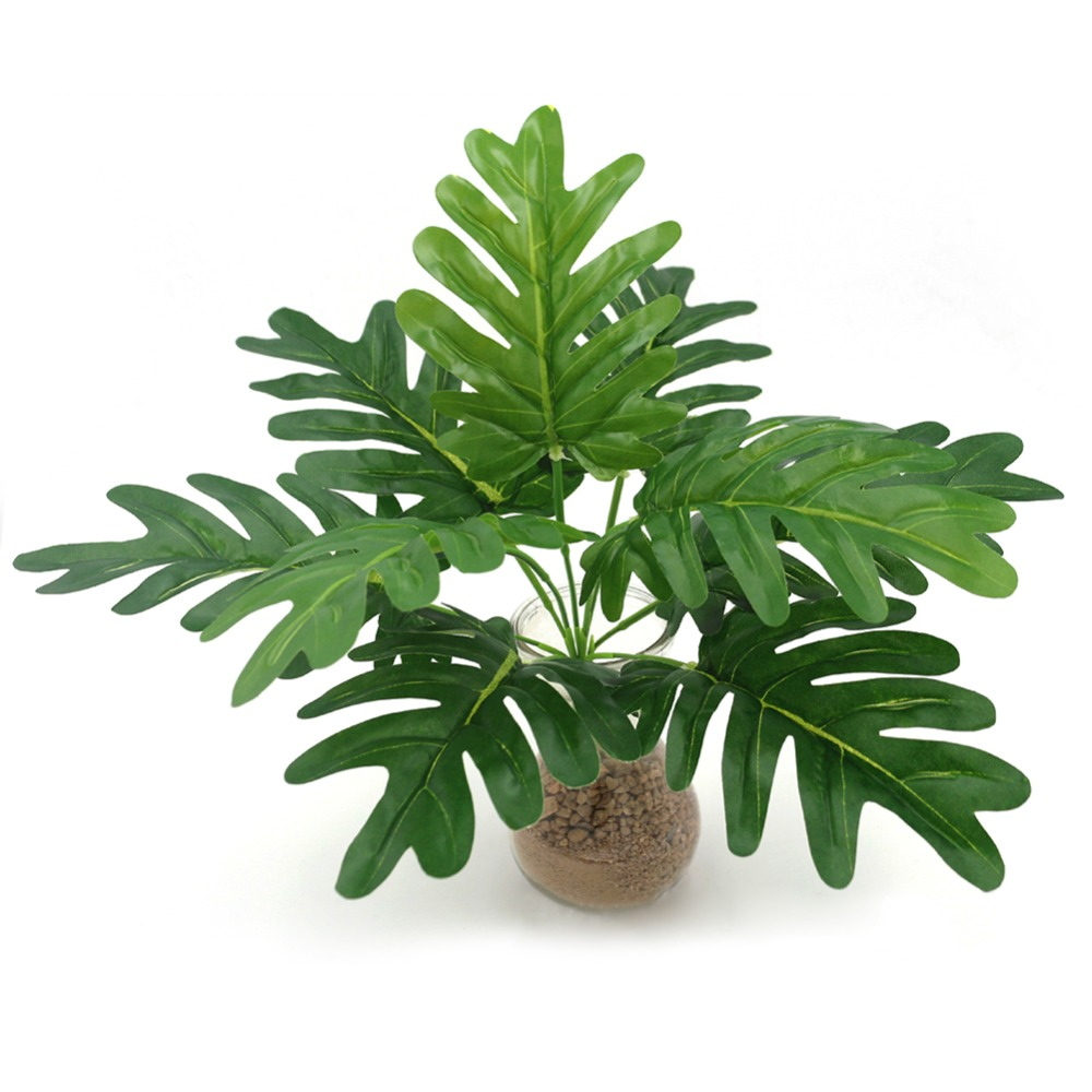 Spring Rain Leaves Artificial Plant Flowers Plastic Fake Plant For Wedding Home Party Decoration Leaves Simulation Plant