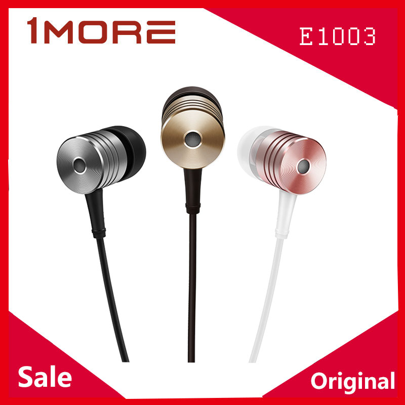 1MORE Earphone Piston 2 E1003 In Ear Wired with Microphone for Xiaomi Samsung Iphone Huawei Honor