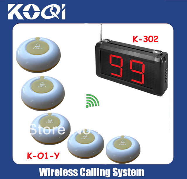 LED Display Wireless Nurse Call Medical Emergency Service Call System K-302 w 8pcs Calling Button free shipping by DHL/EMS