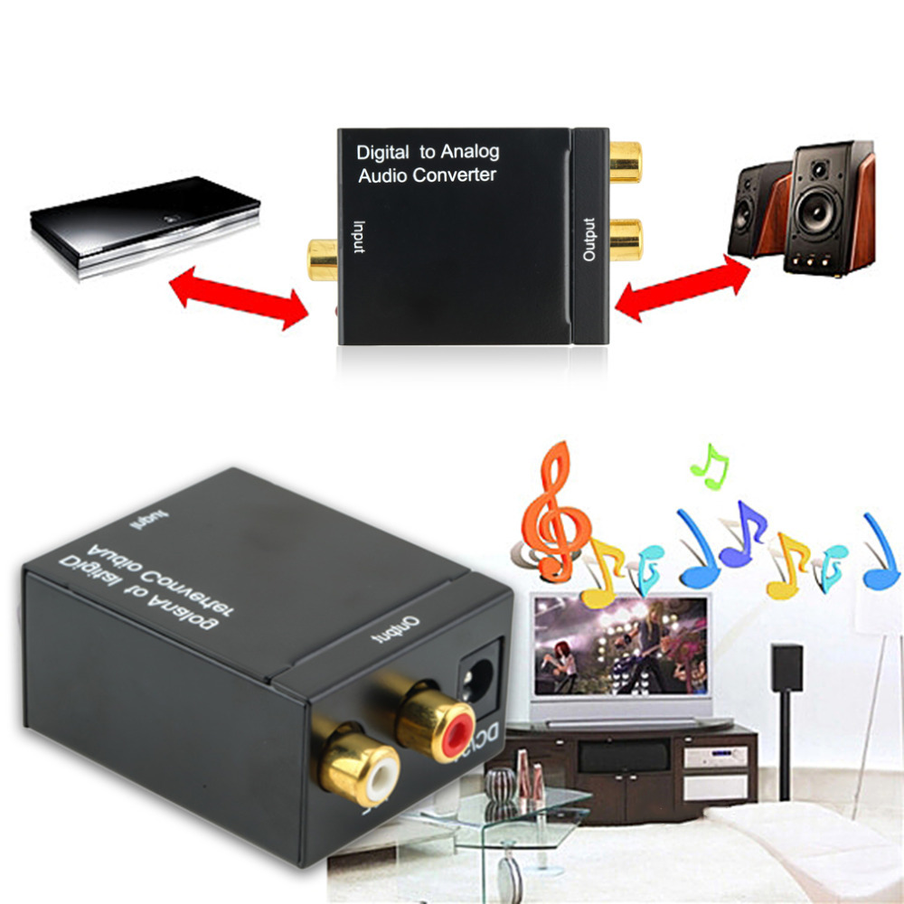 Starter Parts Dashing 1pcs Digital Fiber Optical Coaxial Toslink Signal To Analog Hot Sale L/r Audio Audio Converter Adapter 26 Mm 2xrca Lustrous