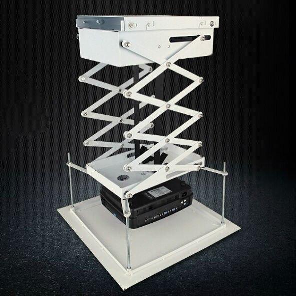 Buona Qualità Motorizzato Proiettore di Sollevamento a Forbice Telecomando Elettrico A Soffitto Staffa di Montaggio Per Il Cinema Chiesa Sala Scuola