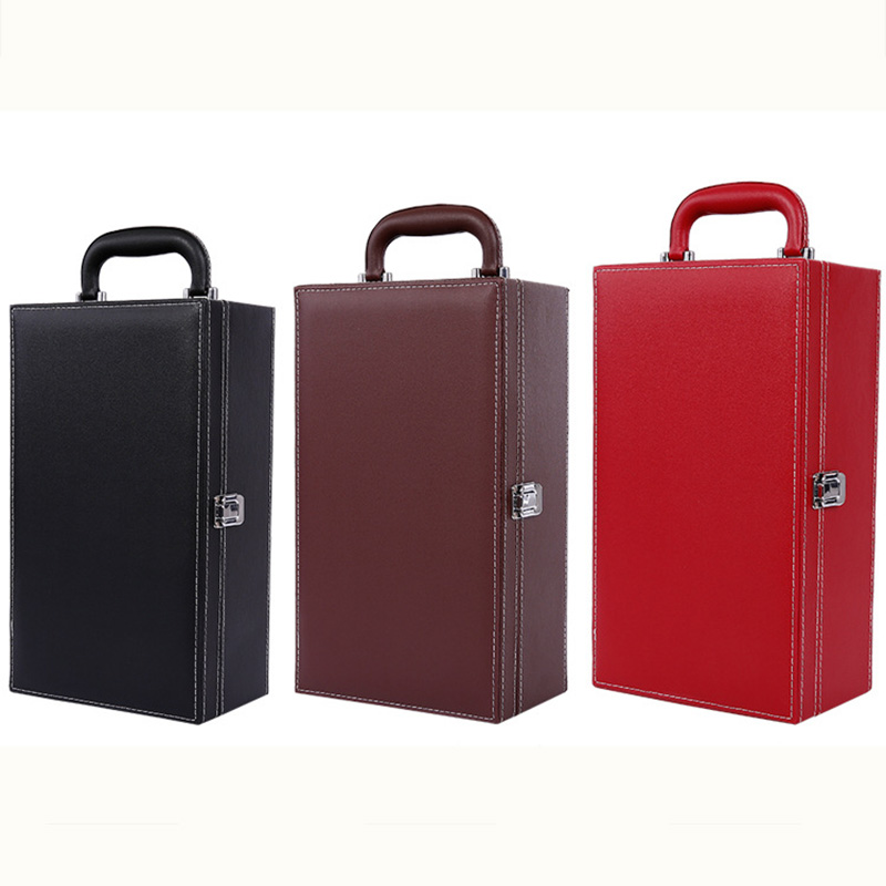 Case Double-Wine-Boxes Ornaments Handle Crafts Home-Decor-Accessories Gift Business Creative