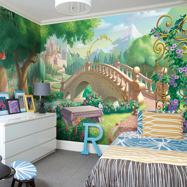 Custom Photo Wallpaper Childrens Room Cartoon Fairy Tale World Of Large Murals Bedroom Living