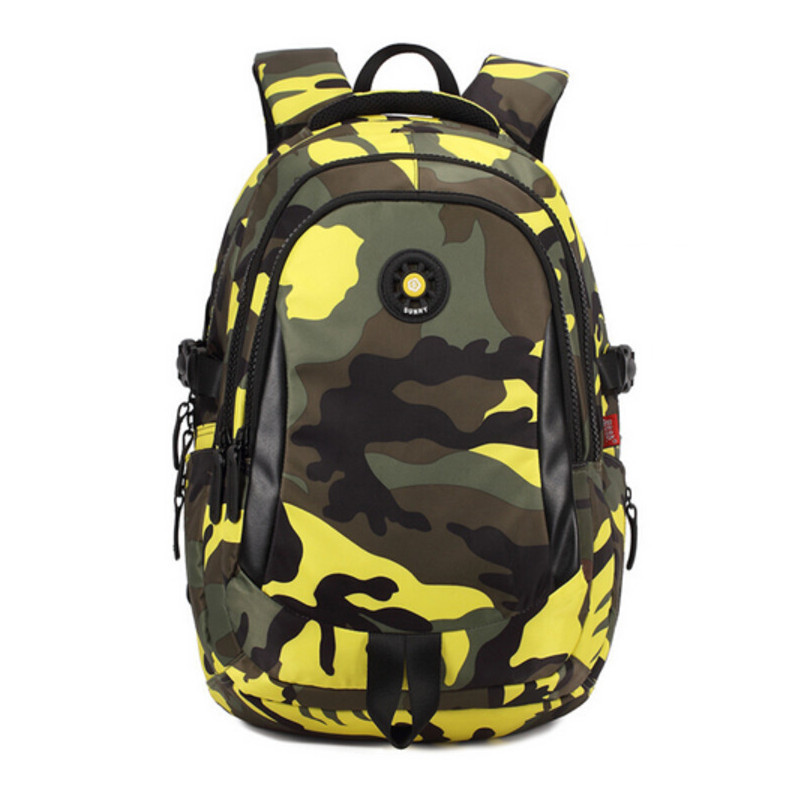 Boys will love the edgy and rugged look. You will love the simple design and great value. This bag includes one spacious main section and a front pocket to hold an assortment of small school supplies.