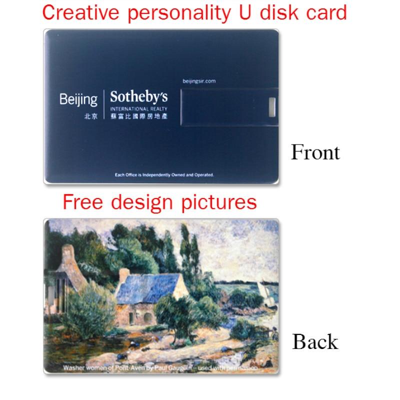 50Pics / Lot 2G / 4G / 8G / 16G / 32G כרטיס אשראי בנקאי צורה כונן USB פלאש עט זיכרון סטיק לוגו לוגו מיטבית + משלוח מהיר