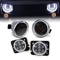 For Jeep JK Accessories Front Fender Smoked LED Turn Signal Side Marker Parking Light For Jeep Wrangler LED Side Marker Lamp