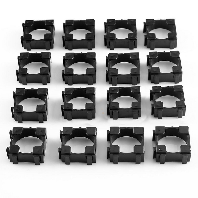Mayitr 100pcs 18650 Battery Cell Holder Safety Spacer Radiating Shell Storage Bracket Fits For 1x 18650 battery