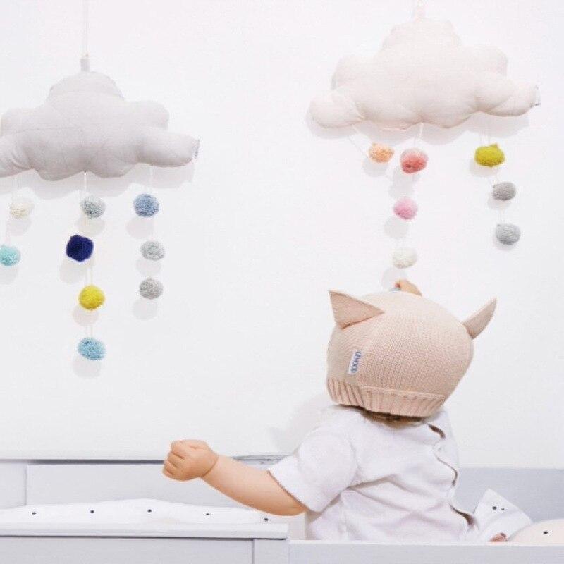 1 шт. плюшевые облако орнаментом Плюшевые настенные вещи украшения комнаты для детской комнате висит плюшевые украшения реквизит для фотос...