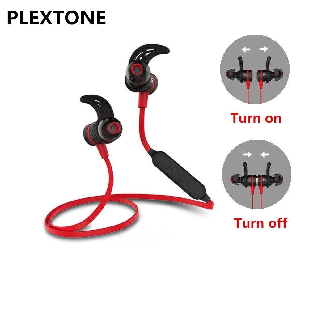BX335 Metal Magnetic Switch Earphones <font><b>Wireless</b></font> Sport headphone Sweatproof Stereo <font><b>Bluetooth</b></font> 4.1 <font><b>Headset</b></font> with MIC For IPhone 6s 7