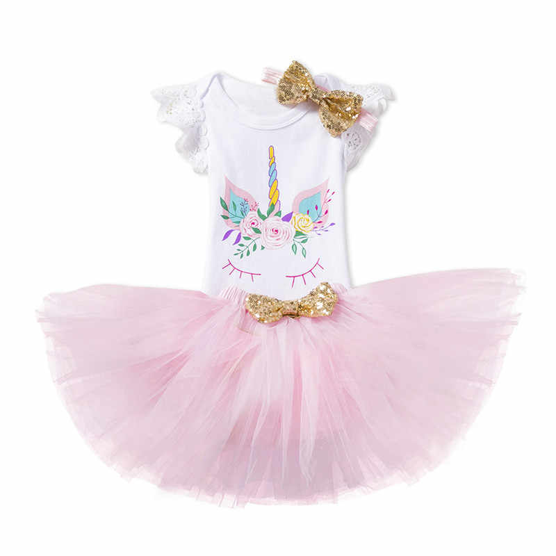 8f3a38e7145b Detail Feedback Questions about 3PCS Newborn Baby Girl Unicorn Romper Lace  Tutu Dress Skirt Party Outfit Clothes on Aliexpress.com | alibaba group