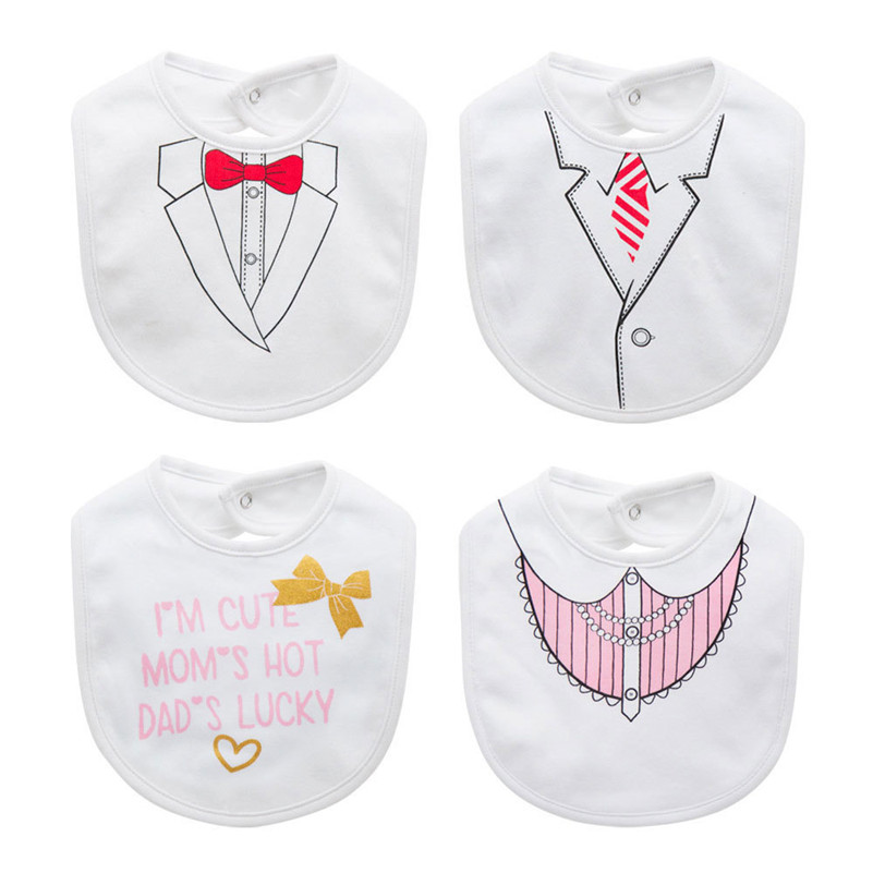 Cotton Bib Baby Bibs Baberos Babador Bavoir Slabber Waterproof Cotton Feeding Newborn Wear Bow Tie 0-12 months Girl Boy Clothes
