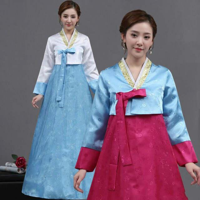 00161057554 placeholder Women Vintage Korean Traditional Clothing Female Wedding Dance  Costume Hanbok Women Korean Hanbok Dress for Stage
