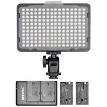 Светодиодный светильник Neewer с регулируемой яркостью 176, 2 шт., литий-ионный аккумулятор 2600 мАч и зарядное устройство с двумя usb-портами, светильник, комплект для Canon, Nikon