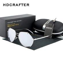 HDCRAFTER Fashion Polarized Driving Fishing Car Sunglasses Man and Woman Brand Designer Alloy Goole A043
