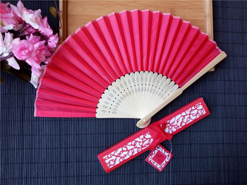 Wedding Gift Cost: Cost Effective Gift Packaging Bamboo Silk Hand Fan Wedding