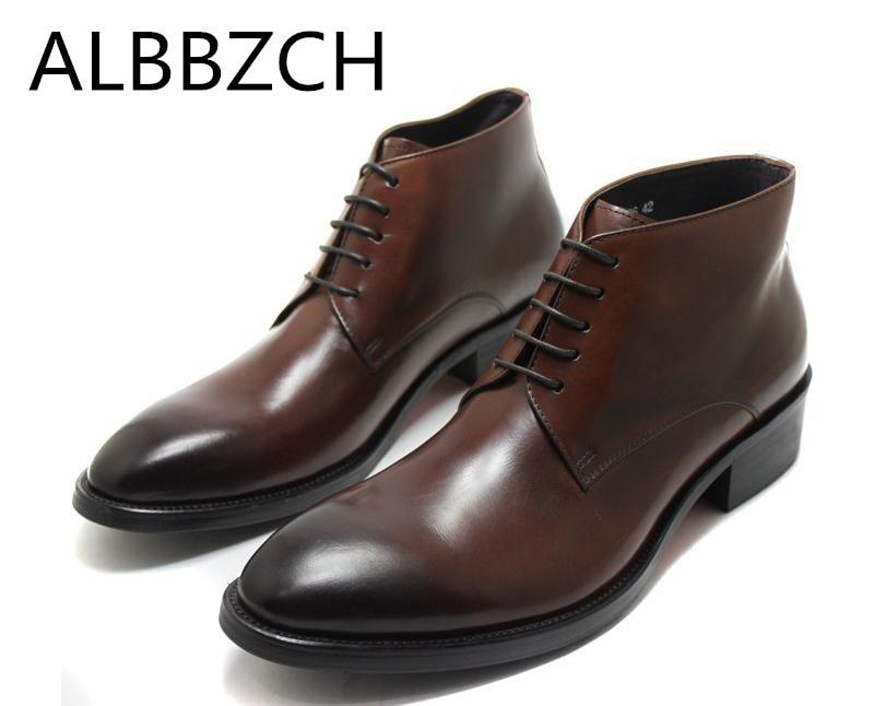 Vestido Negócios Do Boots Dedo brown Us10 Redondo Tendência Trabalho Mens Moda Pé Inglaterra De Estilo Da 44 38 Botas Ankle Genuíno Homens Black Rendas Couro 48pfXqII