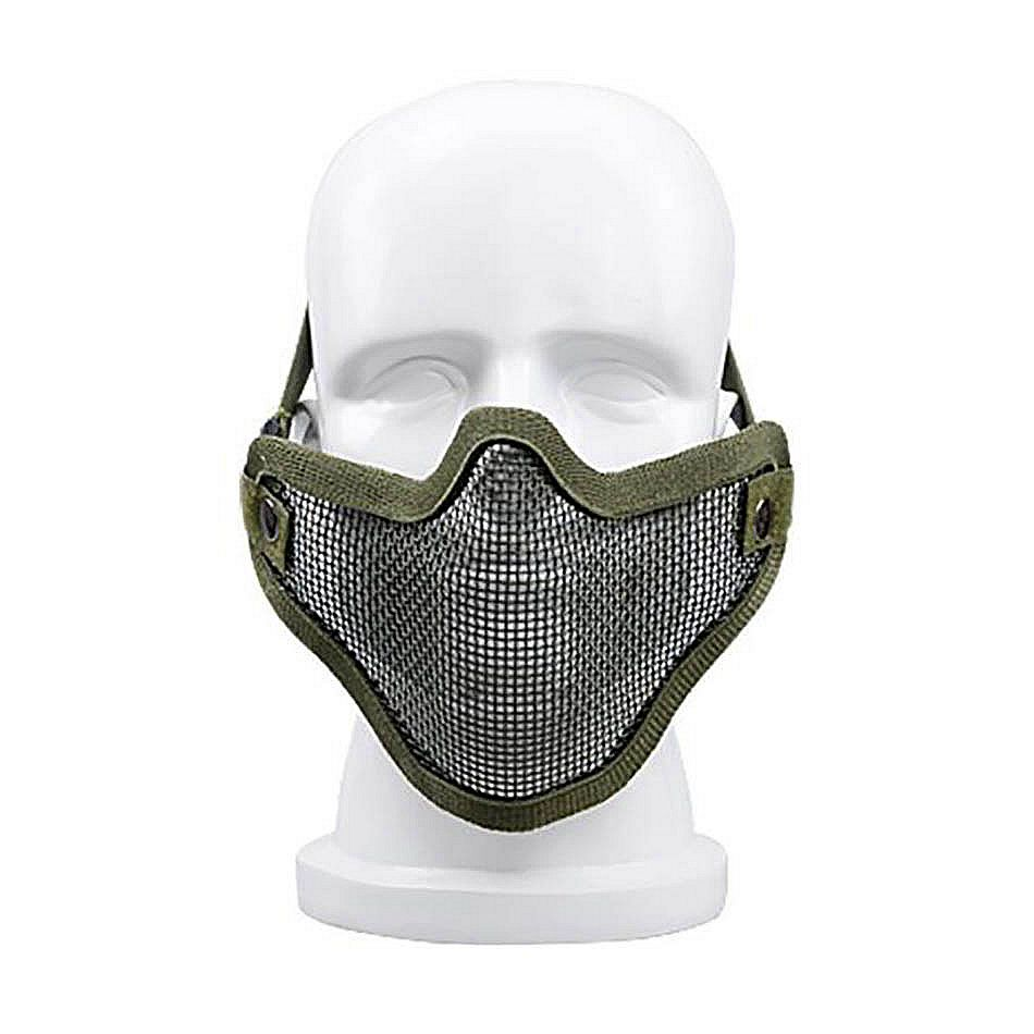 CS Guard Mask Military fan Half Face War Game Airsoft Paintball game mask ball terrorist mask Field Operations Equipment