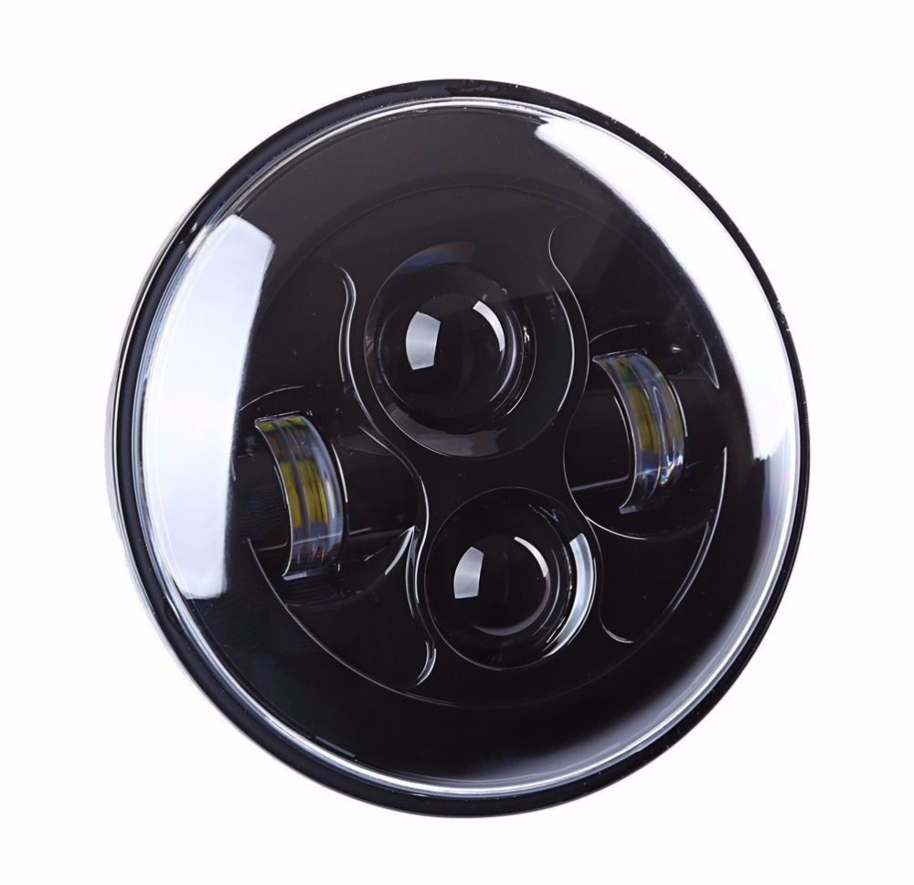 ФОТО 7 inch Daymaker Projector LED Headlamp Headlight Fits  Harley 91-later FLS, FLSS, FLSTC, FLSTF, FLSTFB, FLSTFBS and FLSTN