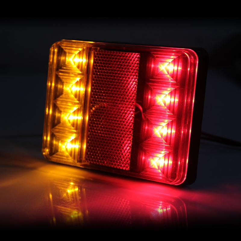 Replace Boat Lights With Led: 2PCS 12V Waterproof 8 LED Tail Light Rear Lamps Pair Boat