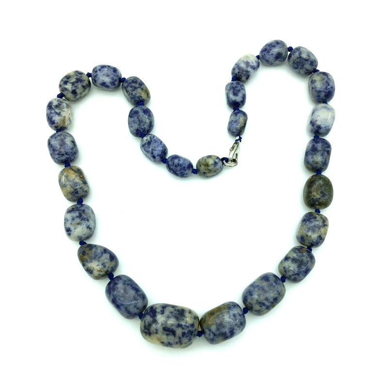 Granos de piedra natural Graduado Gargantilla Collar Partido Joyería - Bisutería - foto 6