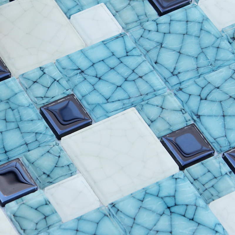 Blue and white porcelain glass mosaic h16 puzzle