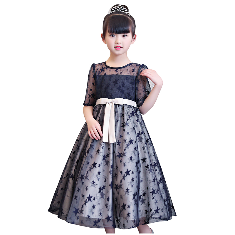 BBRWCF Baby Girl Clothes 2018 New Summer Dresses Girls Half Sleeve Lace Princess Dress for Party and Wedding Free Shipping 3-10Y new arrival spring autumn children s dress girl long sleeve lace dress party dresses girl girls clothes 5 10y
