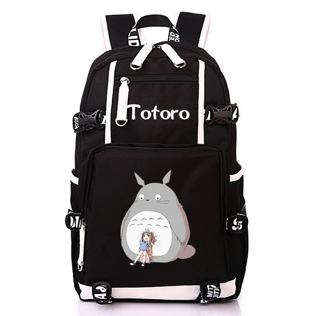 83106a53e50e HOT SALE Japanese Miyazaki Hayao Anime Totoro backpack student bookbag for  teenagers gift large multifunction USB charging-in Backpacks from Luggage    Bags ...