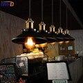 IWHD стиль лофт винтажное промышленное освещение подвесные светильники Ретро Железный подвесной светильник Гостиная Ресторан Hanglamp