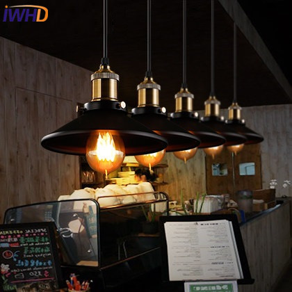 IWHD Style Loft Vintage Industrial Lighting Pendant Lights Retro Iron Suspension Luminaire Living Room Restaurant Hanglamp iwhd glass lampara vintage pendant light style loft vintage pendant lights living room bae kitchen lamps hanglamp luminaire