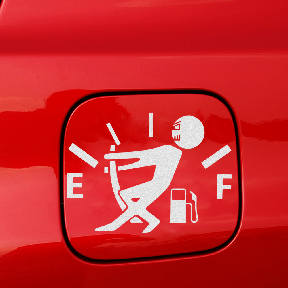 Vinyl Car Stickers Funny Reflective Fuel Gage Empty Sticker Cartoon Graphic High Gas Consumption Decal Self-Adhesive Car Styling drip biohazard skull respirator funny vinyl decal sticker car window bumper diy self adhesive car styling art stickers